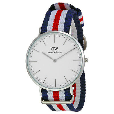 Daniel Wellington Men's 0202DW Classic Canterbury  Tri-Color Nylon Watch
