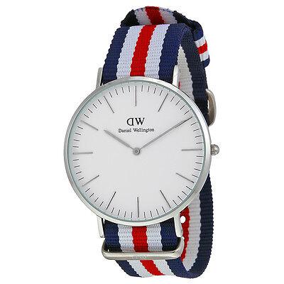 Daniel Wellington Men's 0202DW Classic Canterbury  Tri-Color Nylon Watch