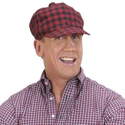 ROTE TARTAN SCHOTTEN MÜTZE # Schottland Highlander Kappe Hut Kostüm Zubehör 8268