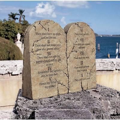The Ten Commandments Statue Biblical Stone Tablet Spiritual Sculpture NEW (Ten Commandments Tablets)