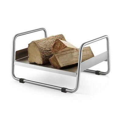 ZACK Prano Firewood Storage Rack 9.8 x 17.13 x 14.17 In, Stainless Steel - 50031