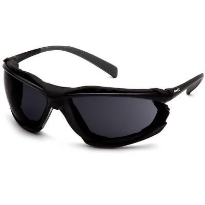 Pyramex Proximity Safety Glasses with Black Frame and Dark Gray Anti-Fog Lens