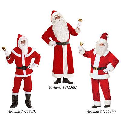 DELUXE WEIHNACHTSMANN KOSTÜM SET Nikolaus Weihnachten Anzug Mantel Bart - Mann Kostüm Perücke