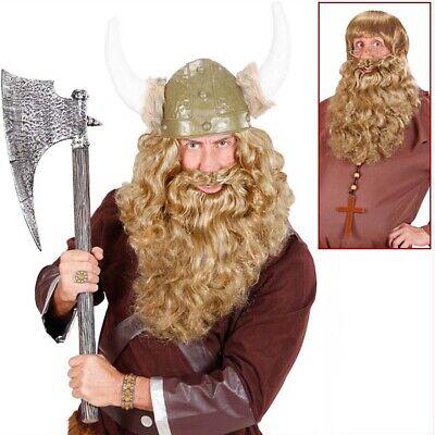 BLONDER DELUXE XL VOLLBART # Wikinger König Mönch Räuber Bart Kostüm Party - Wikinger König Kostüm