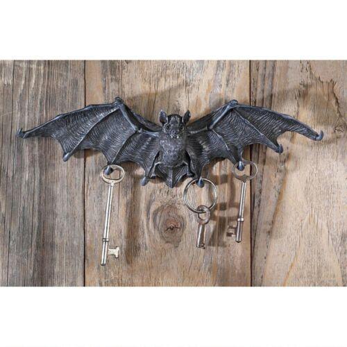 DRACULA VAMPIRE BAT KEY HOLDER WALL HOOK Halloween Statue Sculpture Goth Prop