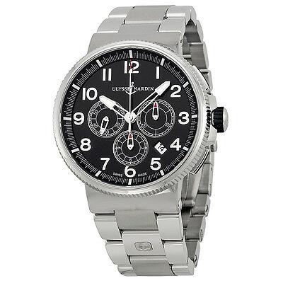 Ulysse Nardin Marine Chronometer Black Stainless Steel Mens Watch 15031507M62