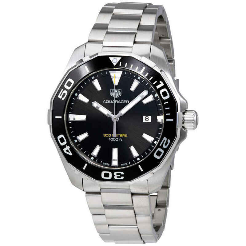 Tag-Heuer-Aquaracer-300M-Quartz-Black-Dial-Men-Watch-WAY101A.BA0746