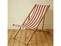 Retro stripy deck chair. needs washed down.