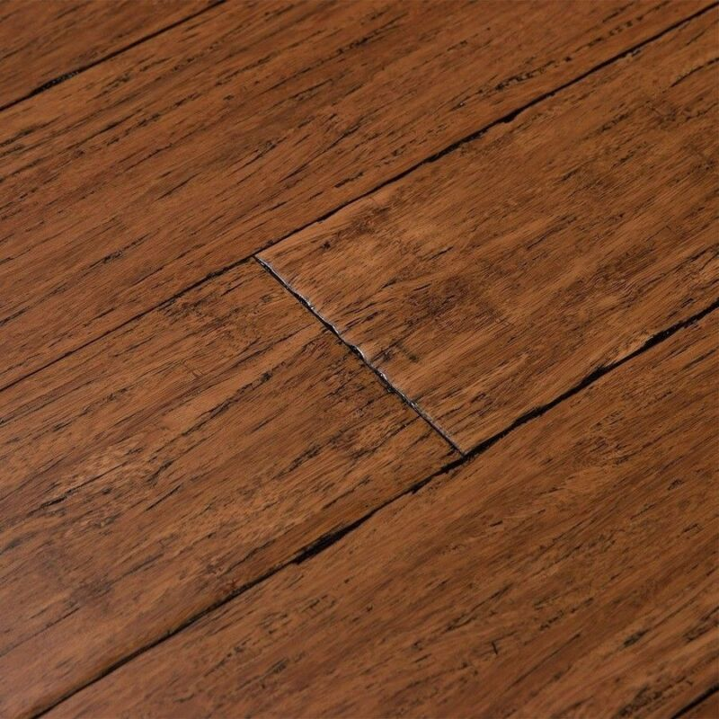 """Cali Bamboo Fossilized 3.75"""" Antique Java Bamboo Solid Hardwood Flooring In Box"""