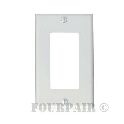 100 Pack - 1-Gang Decora Decorator Flush Wall Face Plate Outlet Cover GFCI White