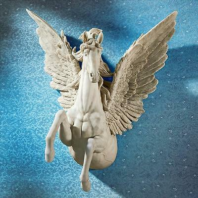 JQ8813 -  Divine Pegasus Winged Stallion Wall Sculpture
