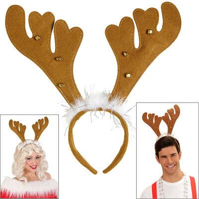 RENTIER GLÖCKCHEN HAARREIF Weihnachten Nikolaus Elch Geweih Hörner Kostüm (Elch Geweih Kostüm)