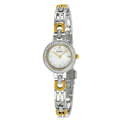 Citizen Silhouette Eco-Drive Mother of Pearl Dial Two-Tone Stainless Steel
