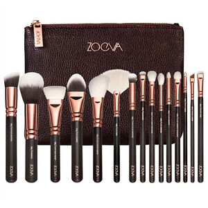 15PCS ZOEVA Rose Golden Makeup Cosmetic Complete Eye Set Powder Brushes Set+Case
