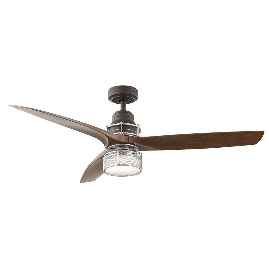 "Kichler 54"" Downrod Mount Indoor Ceiling Fan w/ LED Light"