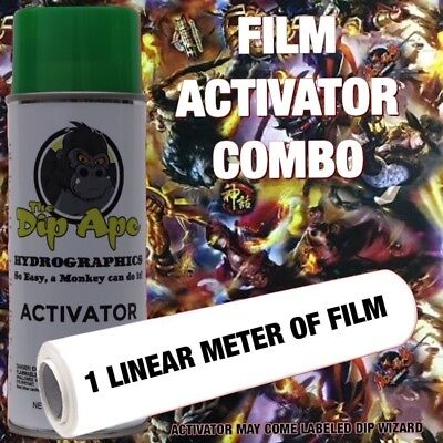 ORIENTAL BATTLE DIP APE ACTIVATOR FILM COMBO HYDROGRAPHIC WATER TRANSFER (Oriental Art Supply)