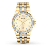 Bulova Men's 98B174 Crystal Accents Gold Tone Dress Watch