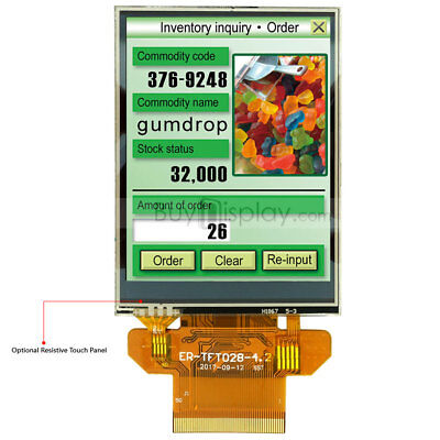 Serial Spi 2.8 Inch Tft Lcd Display 320x240resistive Touch Panel Wtutorial