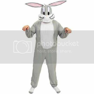Mens Adult LOONEY TUNES Deluxe Bugs Bunny Costume