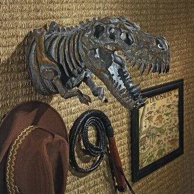 T Rex Dinosaur Skeleton Jurassic Tyrant Lizard Trophy Mount Wall Sculpture for sale  Tampa