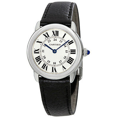 Cartier Ronde Solo Silvered Light Opaline Dial Ladies Watch WSRN0019