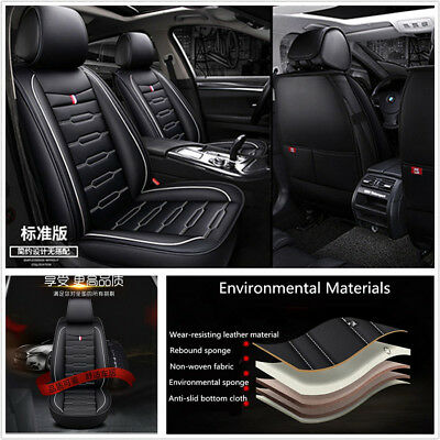 4-Season Environmental Luxury Microfiber PU Leather Car Seat Cushion Universal