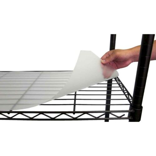"""TRINITY 48"""" x 18"""" Shelf Liner , Frosted Clear"""