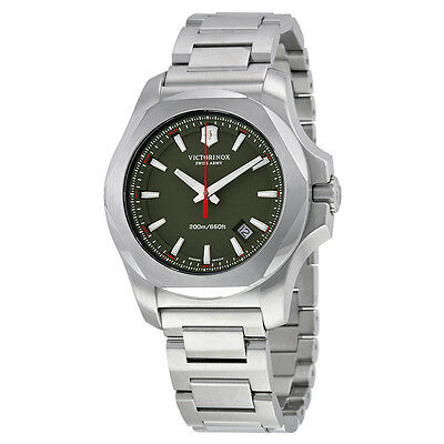 Victorinox Swiss Army INOX Green Mens Watch 241725.1