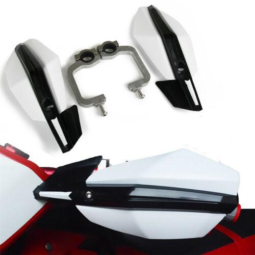 "2 Pcs White 22/28mm 7/8""/1/8"" 28mm Motorcycle Racing Bikes Handguard Hand Guard"