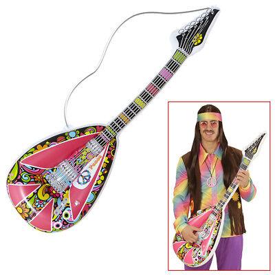 AUFBLASBARE MANDOLINE # 60er 70er Jahre Hippie Gitarre Kostüm Party Deko 04743