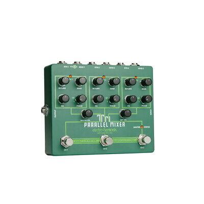 Electro Harmonix Tri Parallel Mixer 3-loop Switcher Effects Loop Mixer, New!