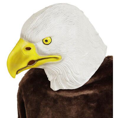 LATEX ADLER MASKE Adlermaske Raubvogel Vogelmaske Maskottchen Kostüm Deko 96635 (Latex Maske Vogel)