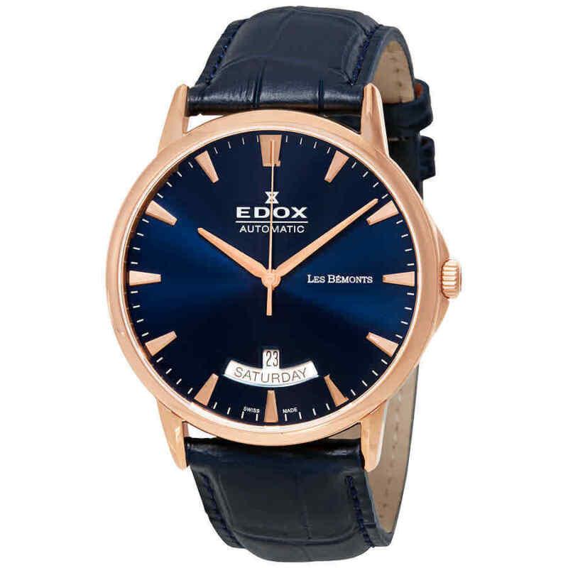 Edox Les Bemonts Blue Dial Automatic Men Watch 83015 37R BUIR