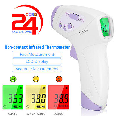 Infrared Digital Forehead Thermometer Touchless Baby Adult Temperature Gun F
