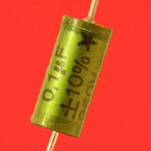 10x CONDENSATEUR MKT 0,1µF 100nF 10% 250V AXIAL POLYESTER HAUTE QUALITE lot 10p - France - État : Neuf: Objet neuf et intact, n'ayant jamais servi, non ouvert, vendu dans son emballage d'origine (lorsqu'il y en a un). L'emballage doit tre le mme que celui de l'objet vendu en magasin, sauf si l'objet a été emballé par le fabricant d - France