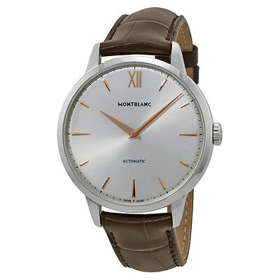 Montblanc Meisterstuck Heritage Automatic Leather Mens Watch MB110695