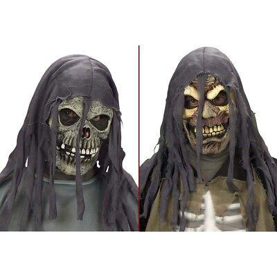 KINDER HALLOWEEN MASKE Totenkopf Skelett Zombie Kostüm Grusel Horror Party 8271