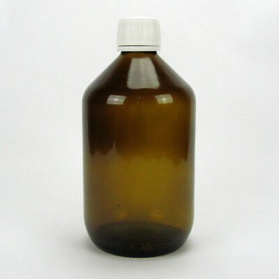 3x Braunglasflasche Apothekerflasche Verschluss Originalitätsring 500 ml