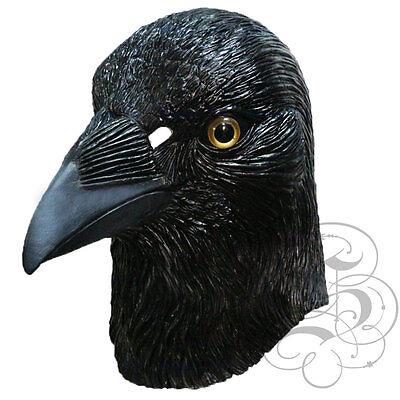 Latex Krähe Rabe Tier Kopf Maske für Halloween Cosplay Maskerade Requisiten