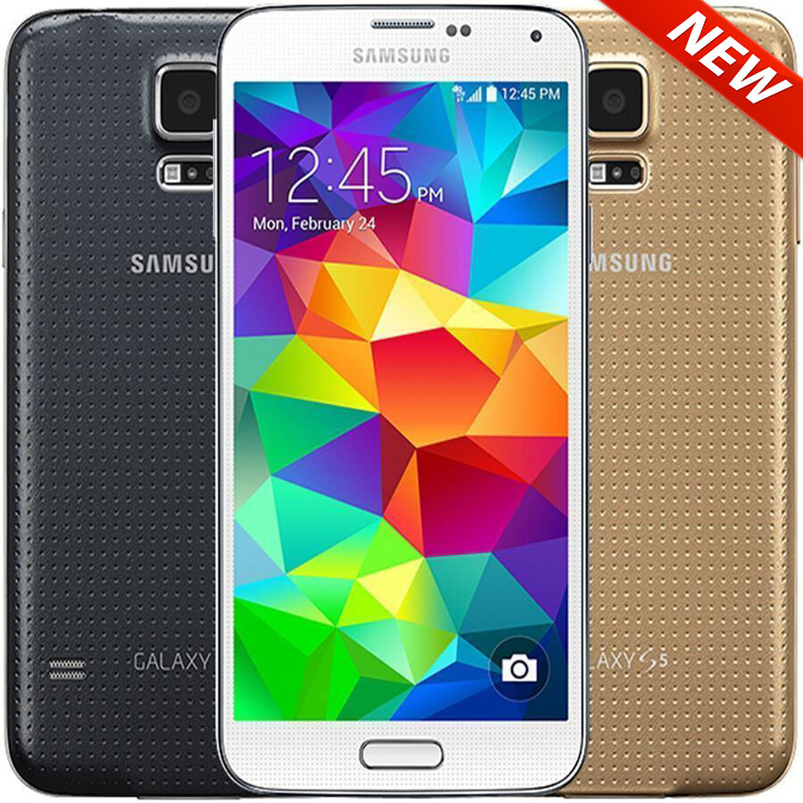 Изображение товара New Samsung Galaxy S5 16GB White Gold Black Unlocked AT&T Tmobile Smartphone