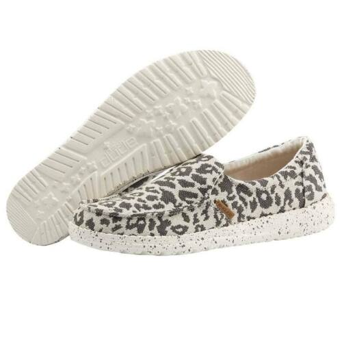 Hey Dude Ladies Misty Woven Cheetah Grey Shoes 140013091