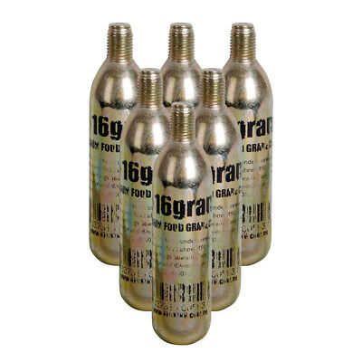Co2 Keg Charger Cartridges Bulbs 16 Gram 6-pack Threaded - Homebrew Ships Free