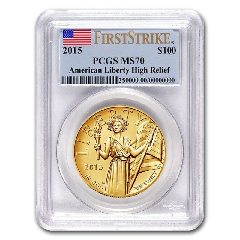 2015 High Relief American Liberty Gold Ms-70 Pcgs (first Strike) - Sku #91819