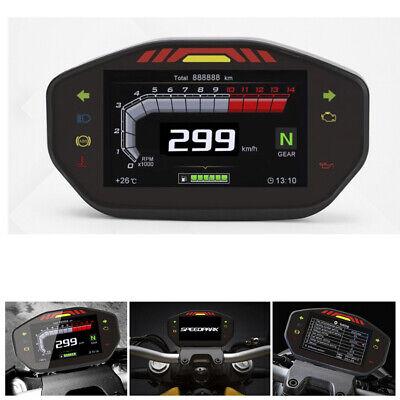 Motorcycle TFT Digital Speedometer 14000 RPM 6 Gears Odometer Gauge Waterproof