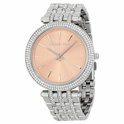 Michael Kors Women's MK3218 Silver-Tone Glitz Rose Dial Darci Watch