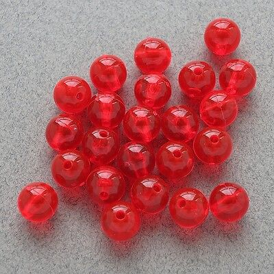 6mm 200 Count Round Translucent Dark Red Beads USA Fishing Tackle Free Shipping