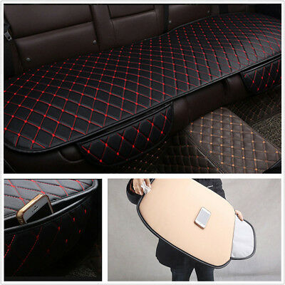 Black+Red PU Leather Four Season Car SUV Rear Seat Cover Protect Mat Car-styling