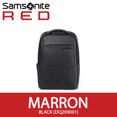"Samsonite RED 2018 MARRON Backpack 15"" Laptop Tablet 33x46cm Smart Sleeve /Black"