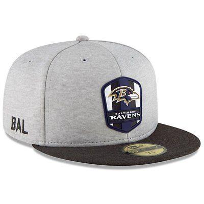 Baltimore Ravens Cap NFL Football New Era Kappe 59fifty 7 1/8 Sideline Sale Sale