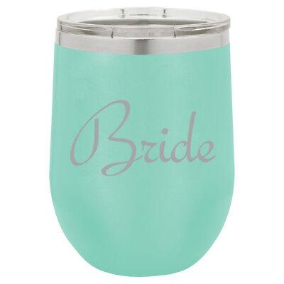 Stemless Wine Tumbler Coffee Travel Mug Glass Bride Bachelorette Wedding - Bachelorette Tumblers